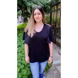 Черна макси блузка
