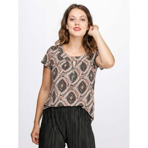 Лятна блузка с къс ръкав
