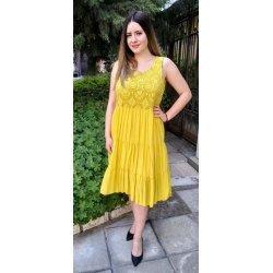 Лятна рокля цвят горчица