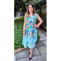 Лятна рокля макси на цветя