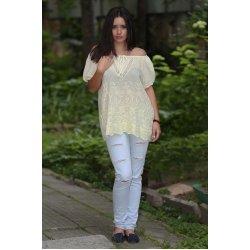 Памучна блузка бродирана