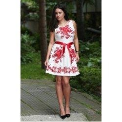 Бяла рокля цветя