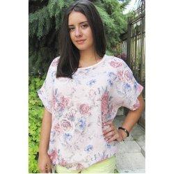 Ленена блуза на цветя