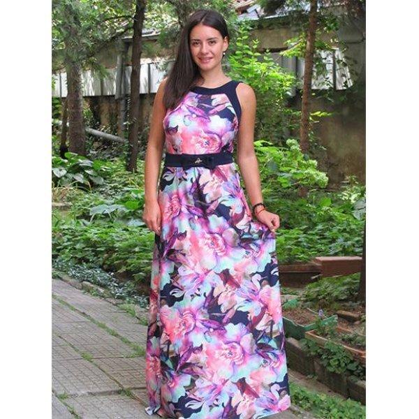 Дълга рокля Дорис цветя
