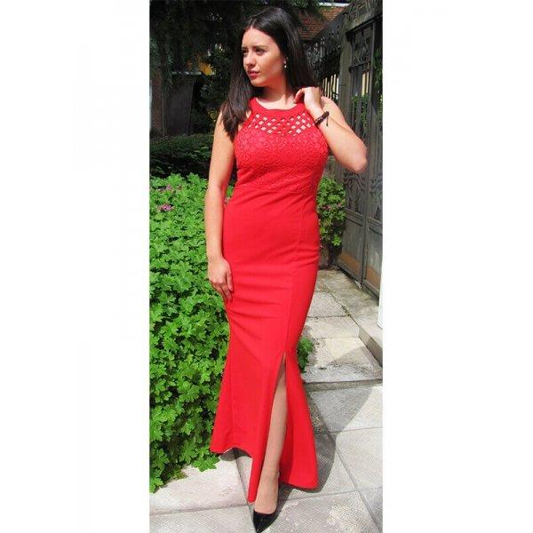 Официална червена рокля Кристина