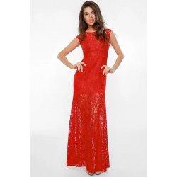 Бална дълга рокля червена