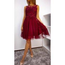 Къса рокля с тюл и бродерия
