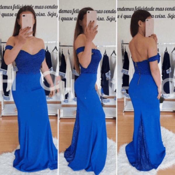 Официална кралскосиня рокля
