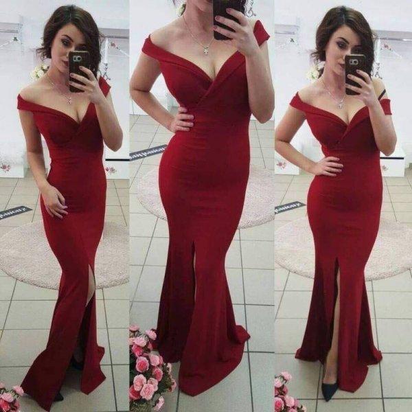Вечерна рокля с цепка