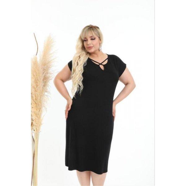 Черна рокля голям размер