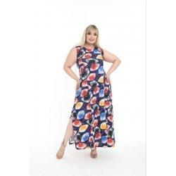 Макси рокля с цветна щампа