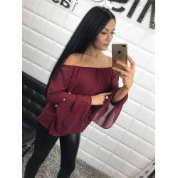 Блуза от шифон бордо