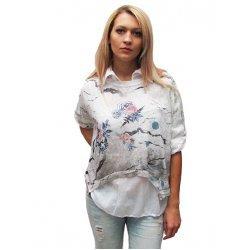 Комплект блуза с бяла риза