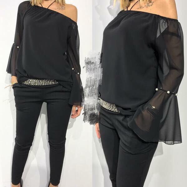 Елегантна блуза от шифон