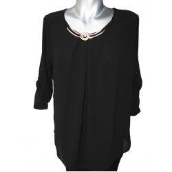 Черна официална блуза