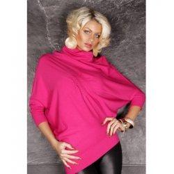 Блуза с прилеп ръкав цикламена