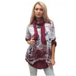 Комплект блуза и риза с шалче
