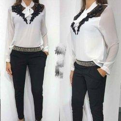 Модерна бяла блузка