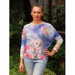 Плетена памучна блузка