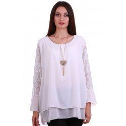 Бяла блуза едри жени