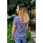 Блуза с къс ръкав дребни цветя