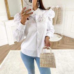 Бяла риза с бродерия