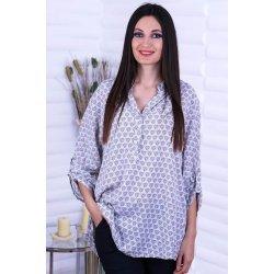 Дълга памучна сива риза