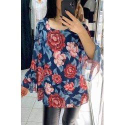 Блуза от шифон на цветя Марина