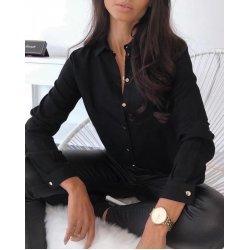 Дамска черна риза
