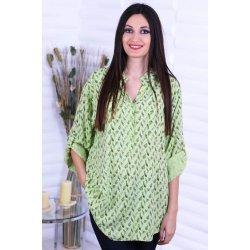 Дамска памучна зелена риза