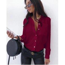 Дамска риза цвят бордо
