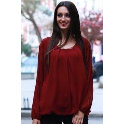 Елегантна блуза бордо