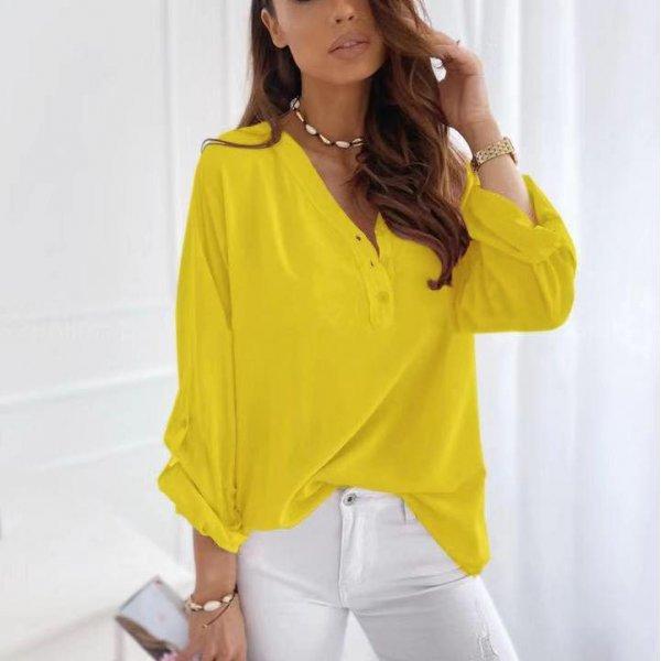 Жълта дамска блузка
