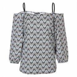 Макси блуза с отворени рамене