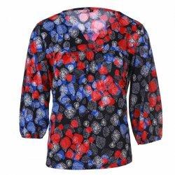 Макси блуза с три четвърти ръкави