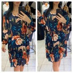 Пролетна рокля от жоржет-шифон