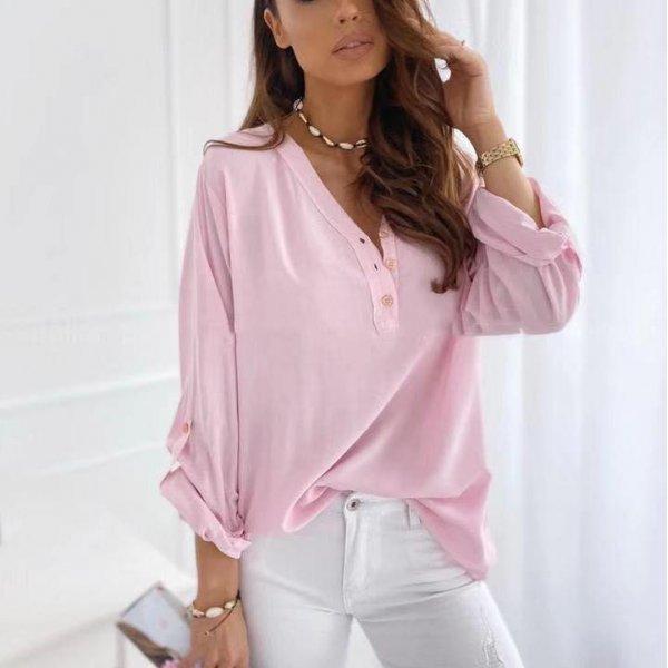 Розова блуза за пролетта