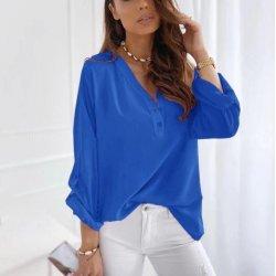 Кралско синя дамска блузка