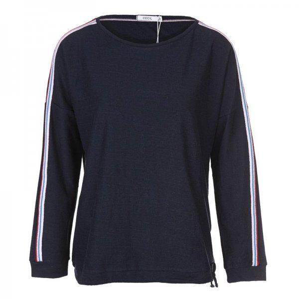 Тъмносиня памучна блуза Cecil