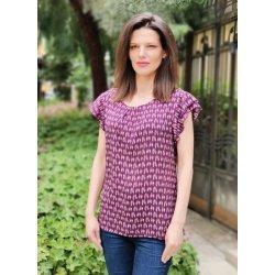 Блуза с къс ръкав Виолета