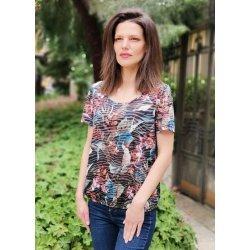 Блуза с къс ръкав щампа