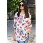 Блуза макси на цветя