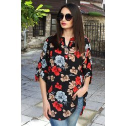 Дамски риза-туника цветя