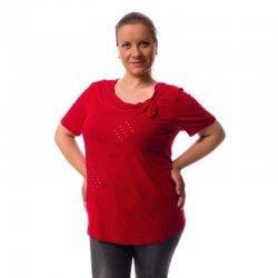 Червена блуза от трико