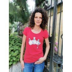Дамска червена тениска