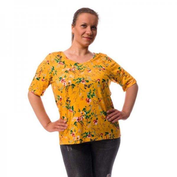 Дамска тениска щампа цветя