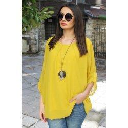 Дамска блуза цвят горчица