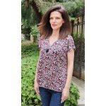 Блуза на цветя с цип