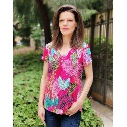 Лятна блуза с къс ръкав Мари