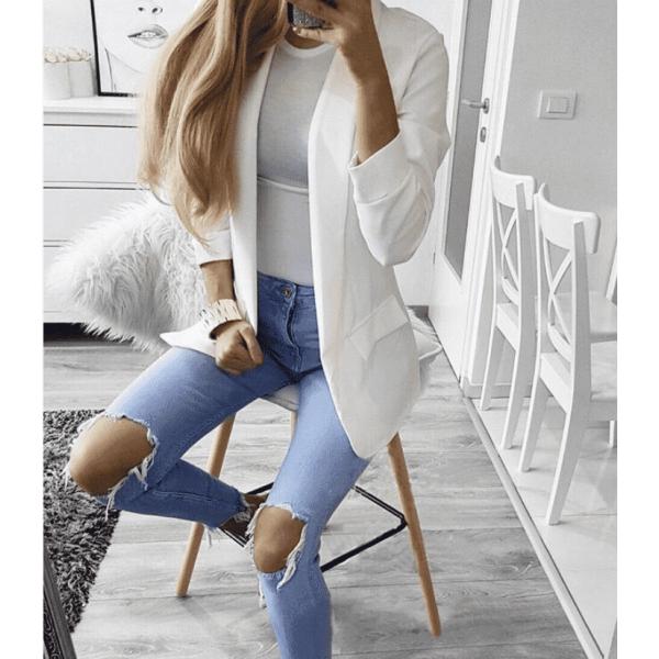 Лятно бяло сако